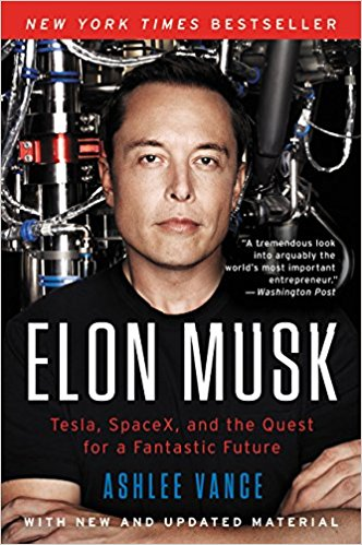 Elon Musk - Ok, ok, so I know the guy isn't perfect. In fact, I know this because of this biography, written by Ashlee Vance. But I like how Musk used capitalism to make energy alternatives sexy. Plus I very much identify with this quote from his TED Talk:
