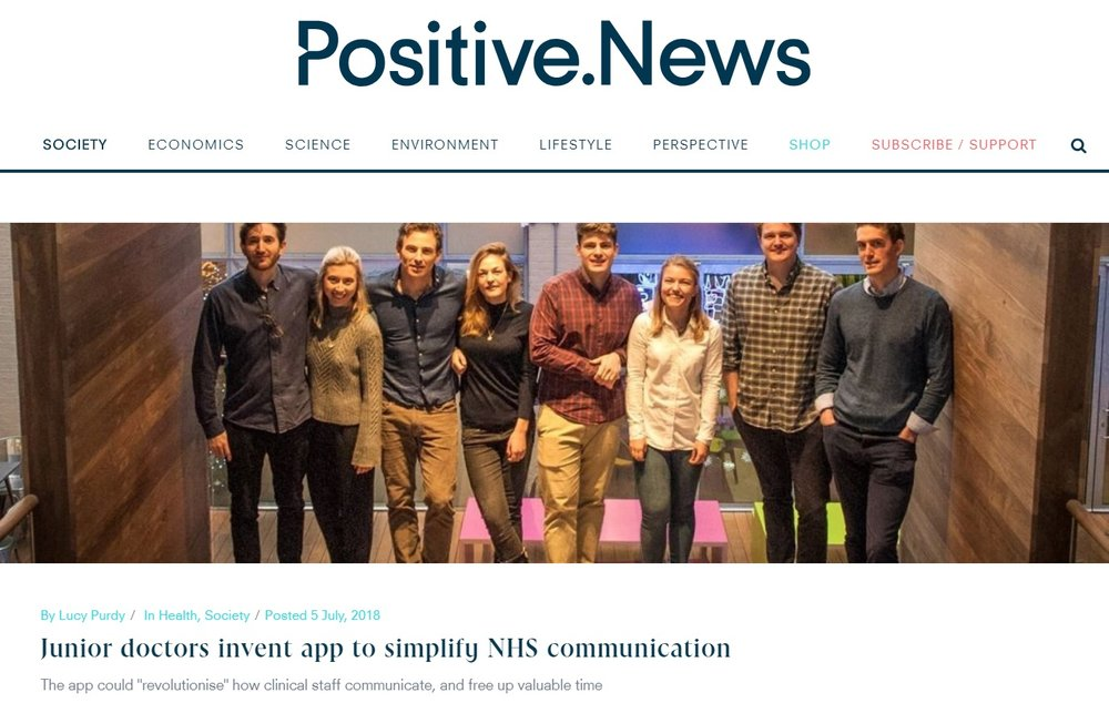 - This website reports on all the GOOD things happening around the world. They also have a Twitter account, @positivenewsuk, which is worth following!