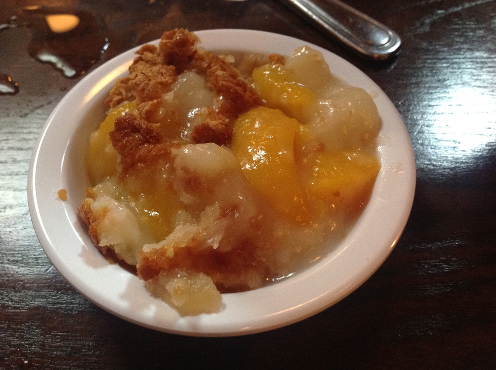 There's always room for peach cobbler