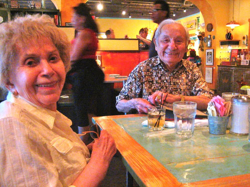 Loren's adorable grandparents, aka Mom and Papi