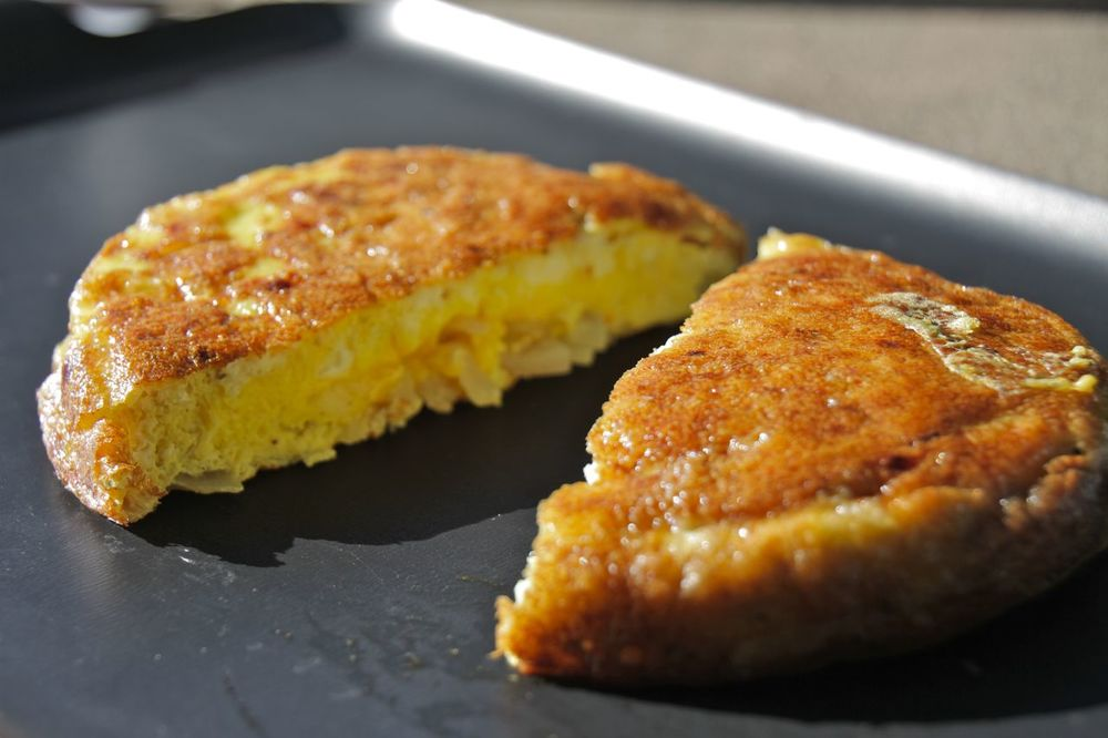 Morning eggs, tortilla espanola style