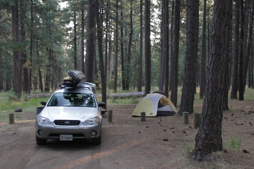 Camping outside of Bend