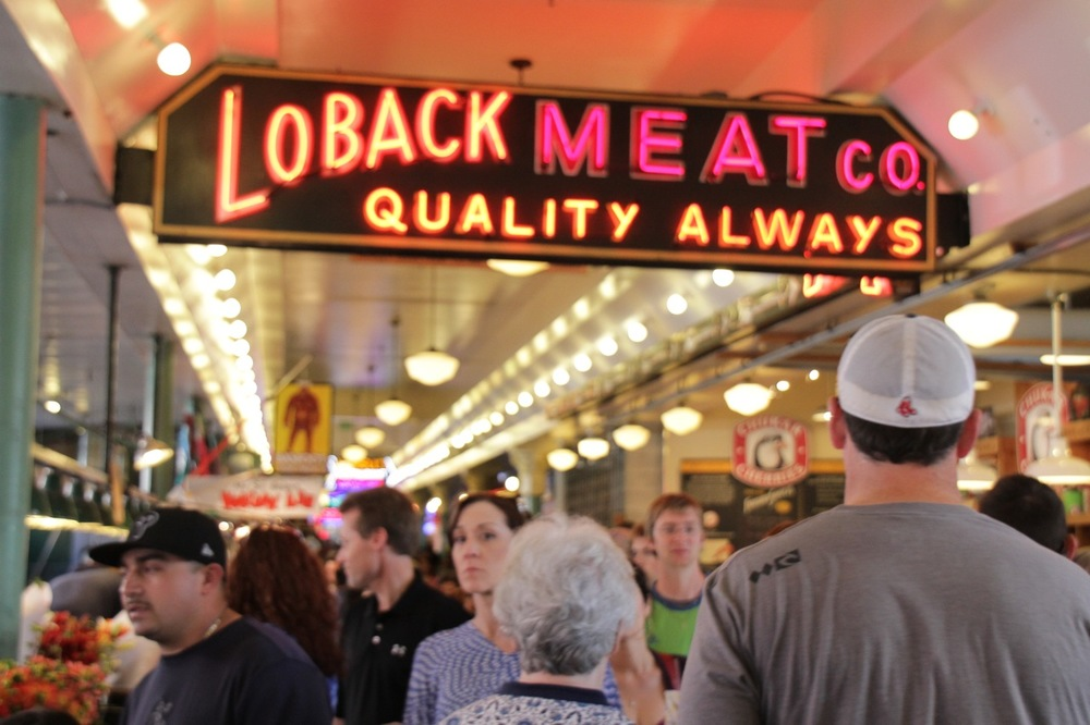 Pikes Place, Seattle, Loback Meat Co