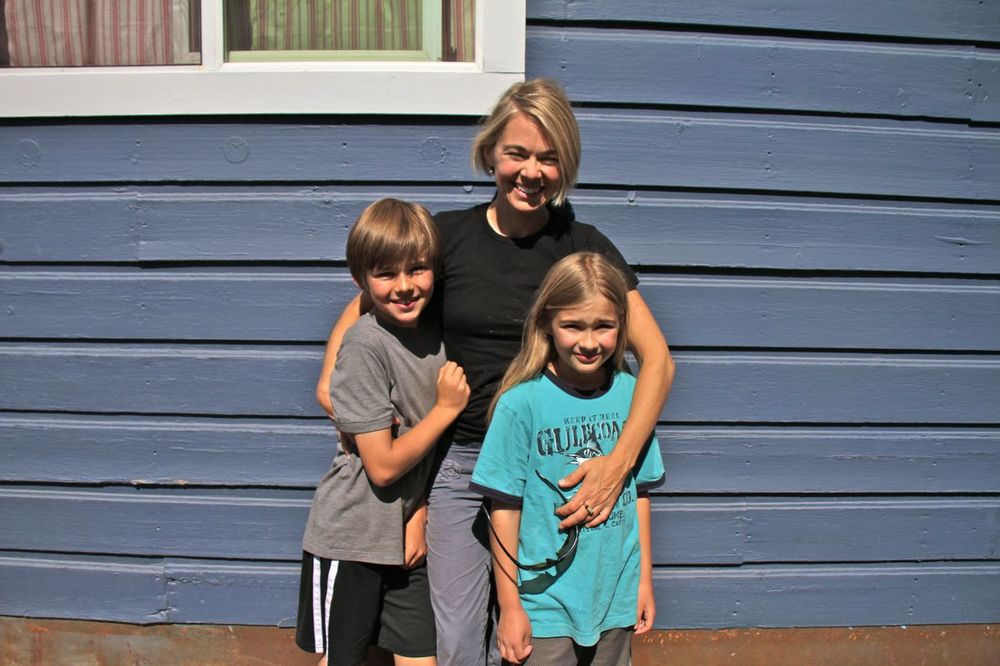 Jess and the kids