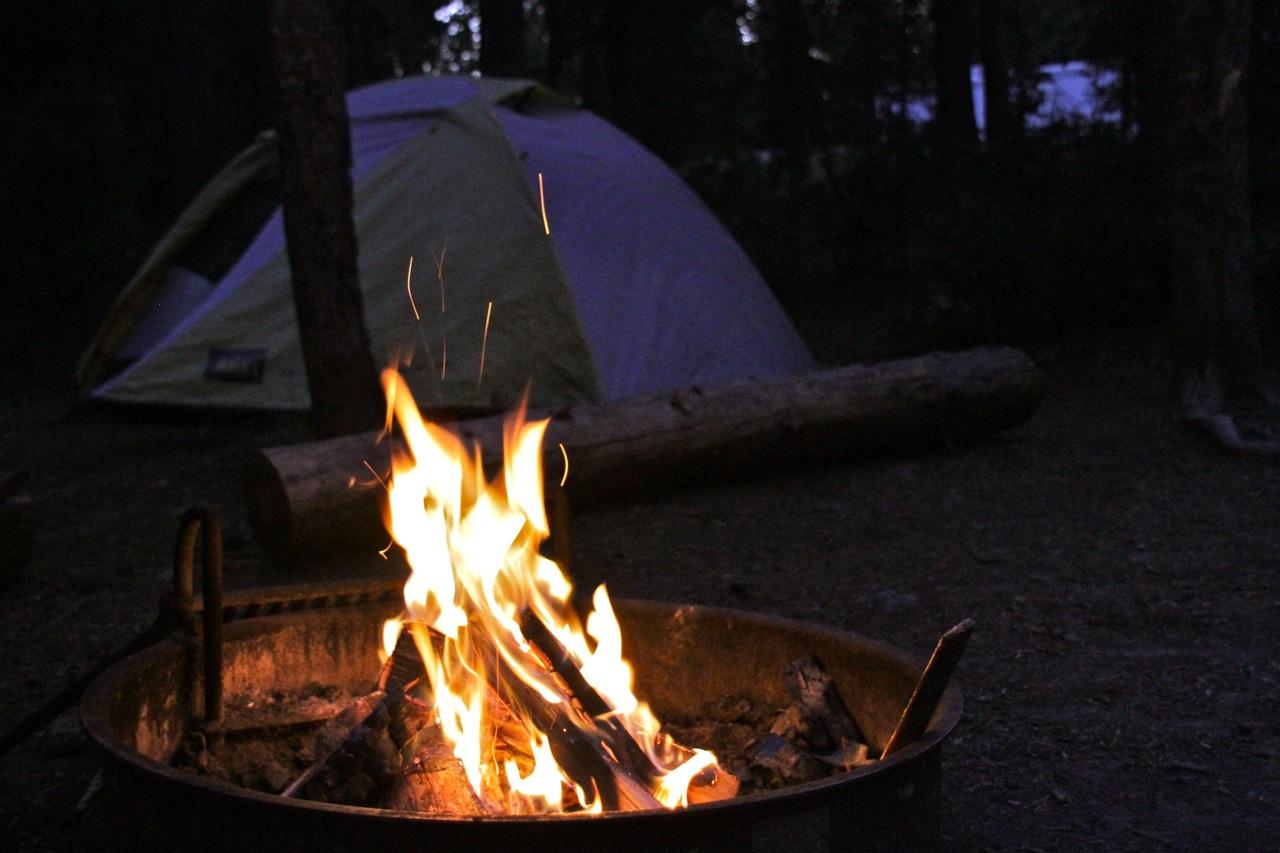 Campfire at Yellowstone