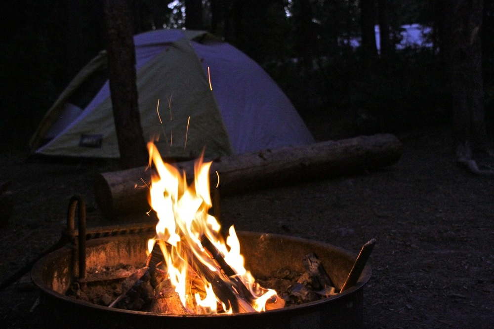Campfire at Yellowstone
