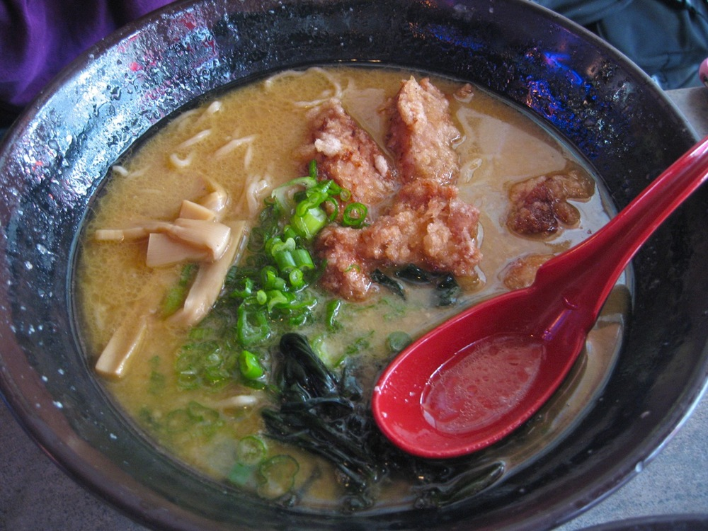 Fried chicken ramen at Katana-ya
