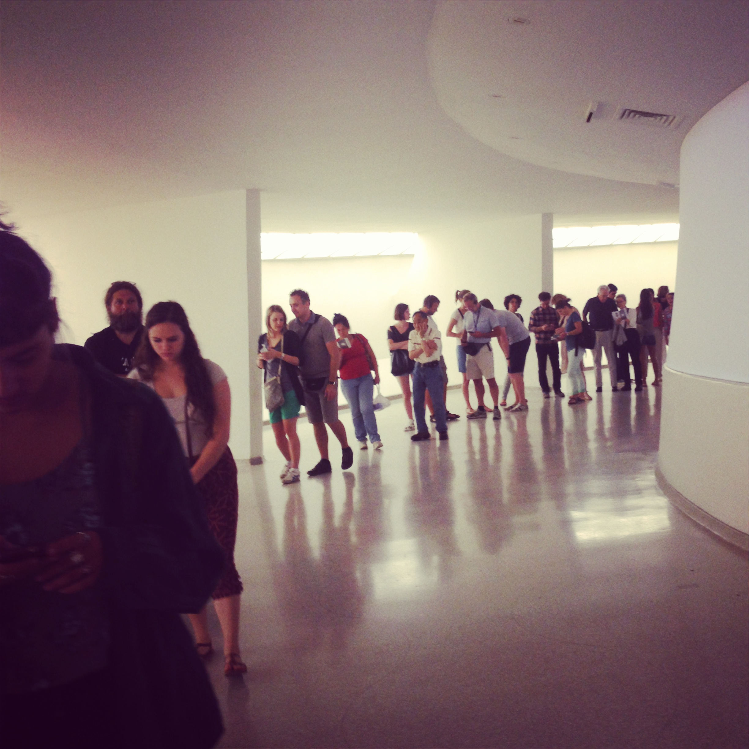 We weren't the only ones excited to see the James Turrell exhibit at the Guggenheim in New York City