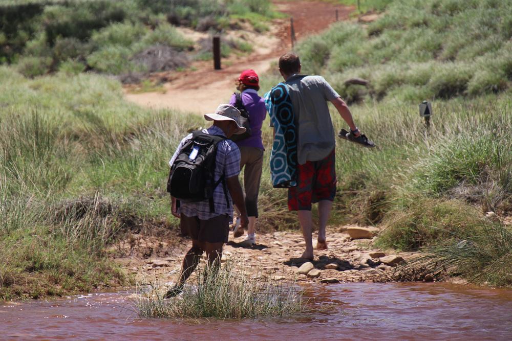 Crossing the Finke River