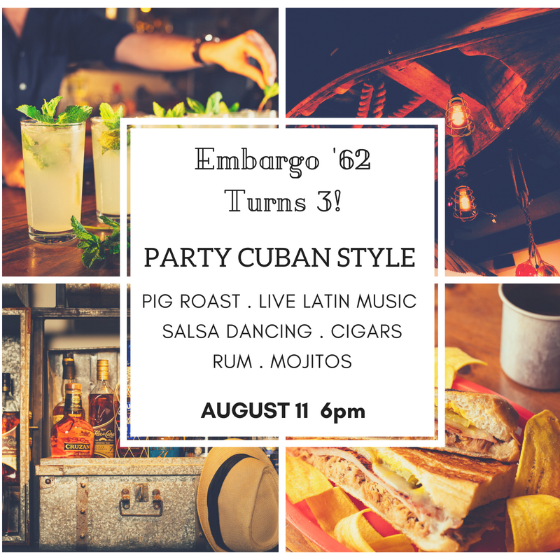 Embargo '62 Birthday Bash!