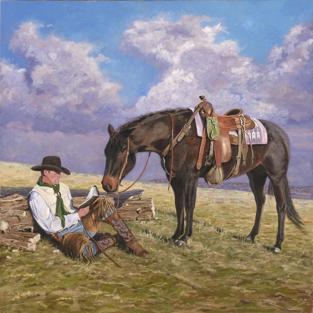 Cowboy Church  , oil on canvas, 36 x 36 inches
