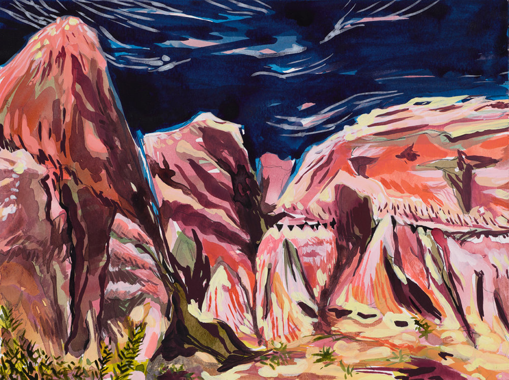 Red Rock Canyon    9x12 in. Mixed media on paper.