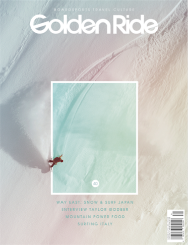 Golden Ride Magazine, issue 40, a German Magazine boardsports, travel and culture magazine, has published an interview about our project Life in White.