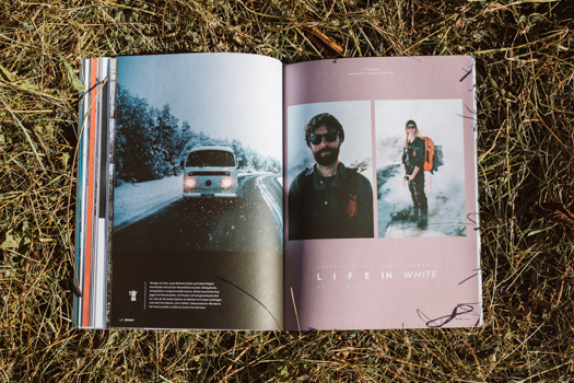 Pleasure Mag issue 128, one of the most important European snowboard magazines has published an interview about us.