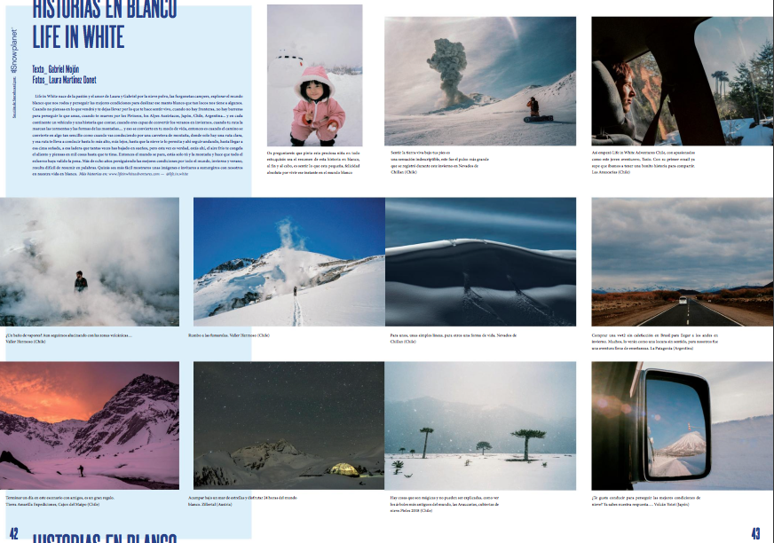 Skishock, Spanish ski magazine has published a Porfolio about us and short feature about traveling Japan in campervan.