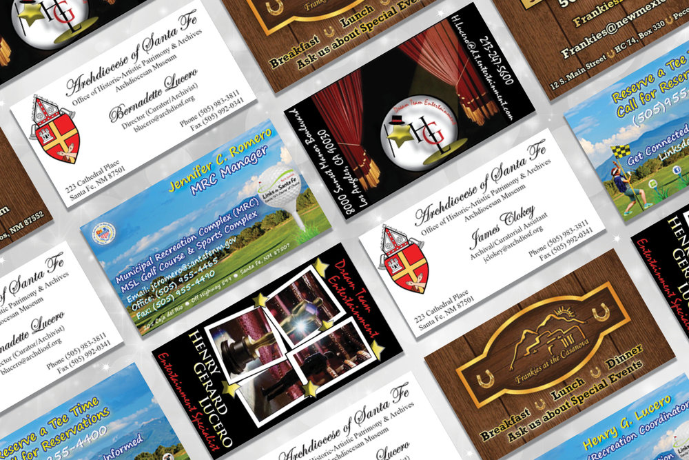 Creative Development    branded business cards    See Artwork