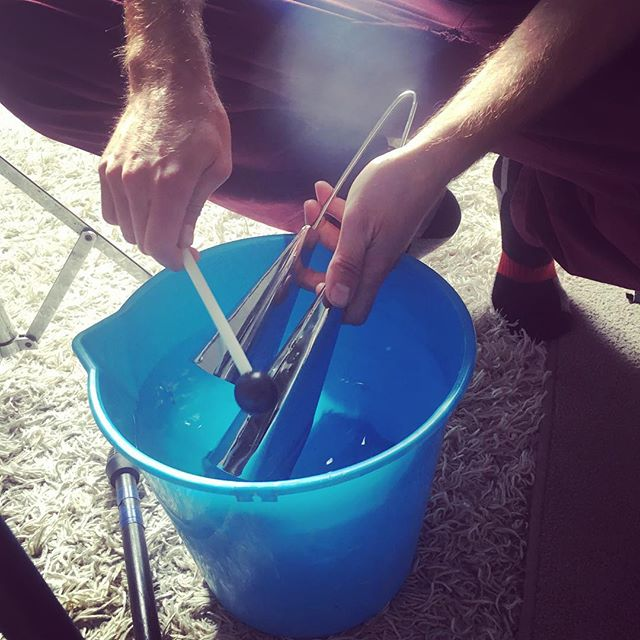 Sometimes The Right Sound Requires A Bucket Of Water #facumagic #lastrecordedbitofEP #somethinginthewater #facuthunderstick