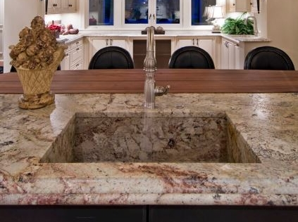 Custom granite sink