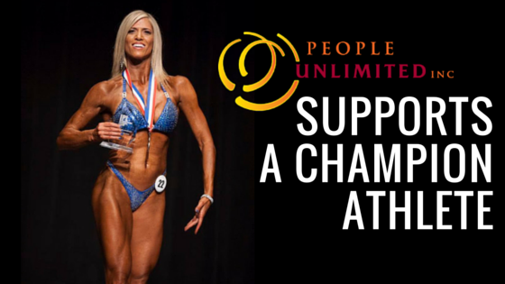 People Unlimited supports champion athlete