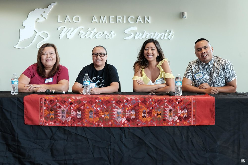 Lao Food Panel: Nana, Mony, Christina and Thip  Photo by  Dennis Wtpho  of  Khom Photography