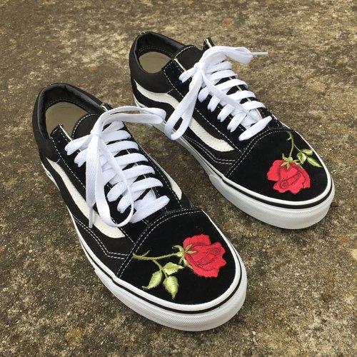 vans rose flower