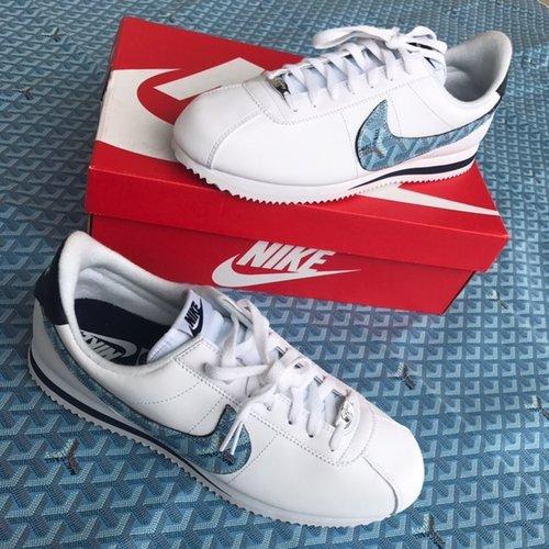 112e58355b6a Nike Cortez Blue Custom — vintagewavez