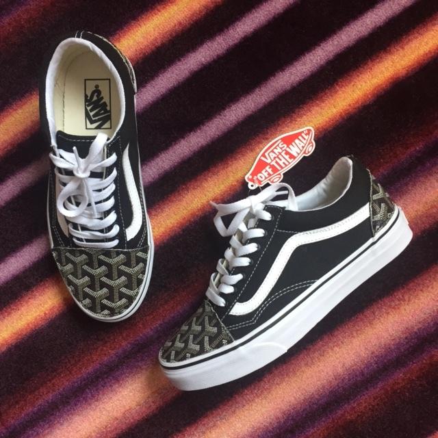 352001b54195 Black Gohard Old Skool Vans Custom — vintagewavez