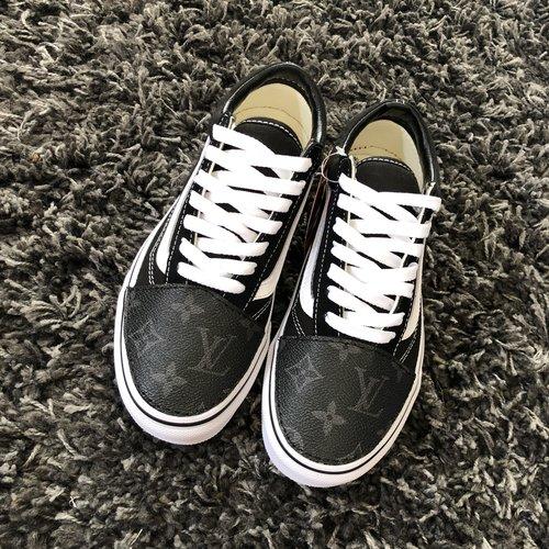 7987b76cba9a Vans Custom Grey Canvas — vintagewavez