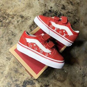 Red Baby Side Panel Lv Vans