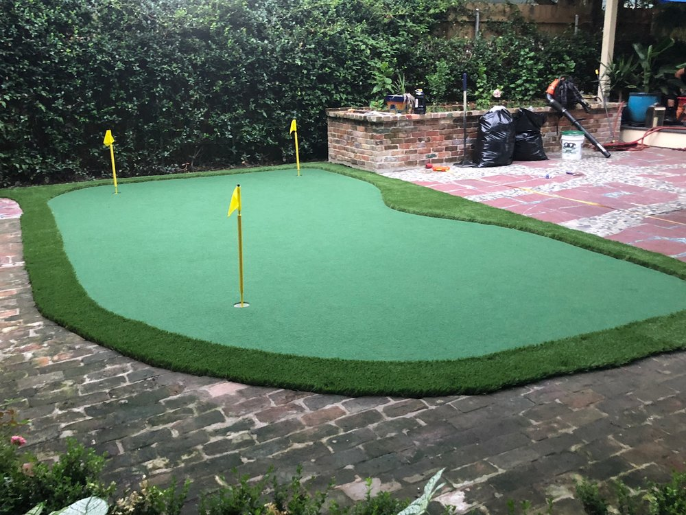 How To Build A Putting Green In My Backyard residential putting greens — gulf coast synthetic turf