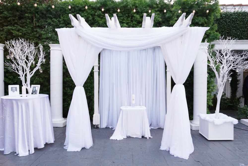 Full Draping - Double-panel plus front and back draping of gazebo(Decor not included)$300