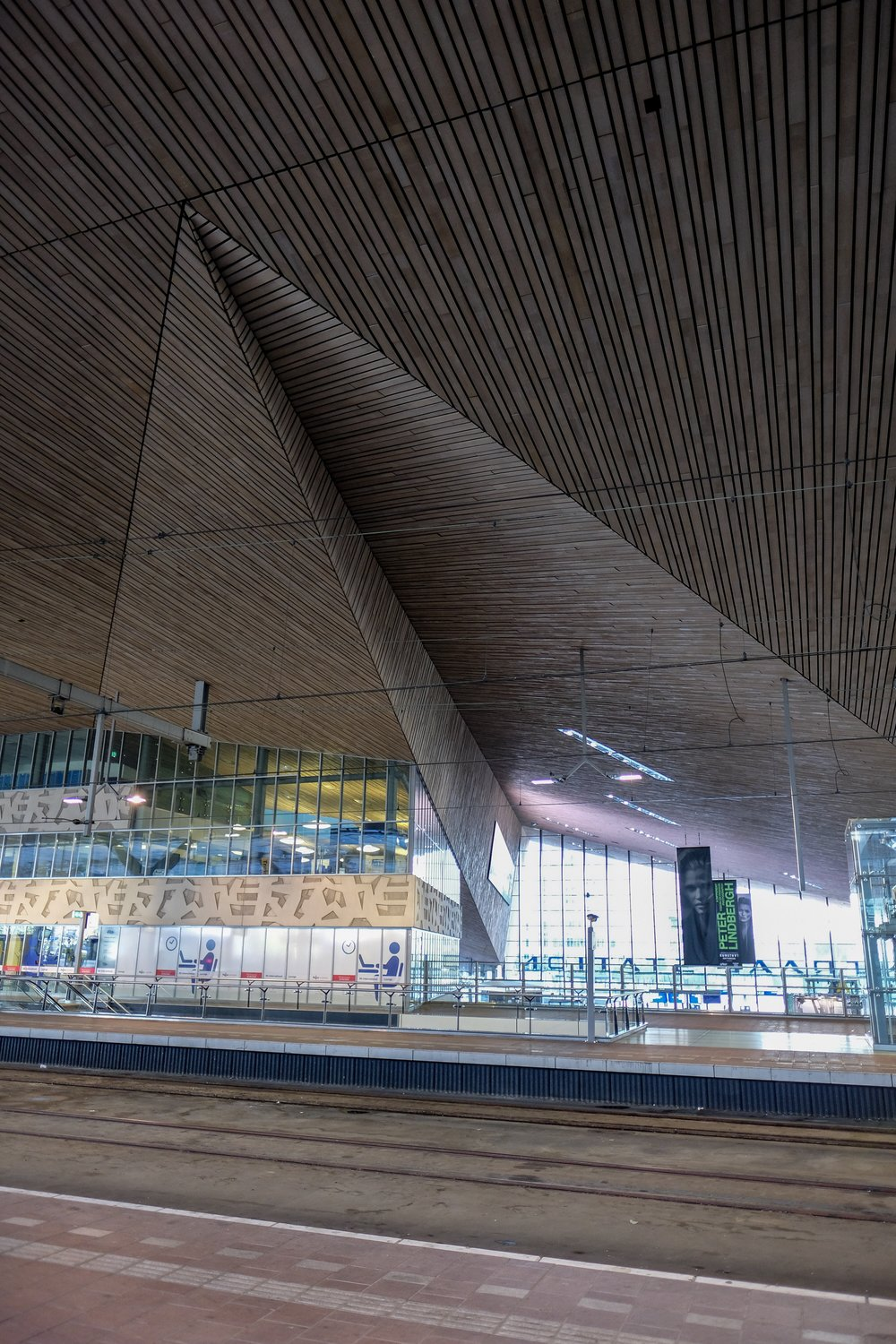Rotterdam Centraal Train station.  It reminds me of a giant paper airplane.