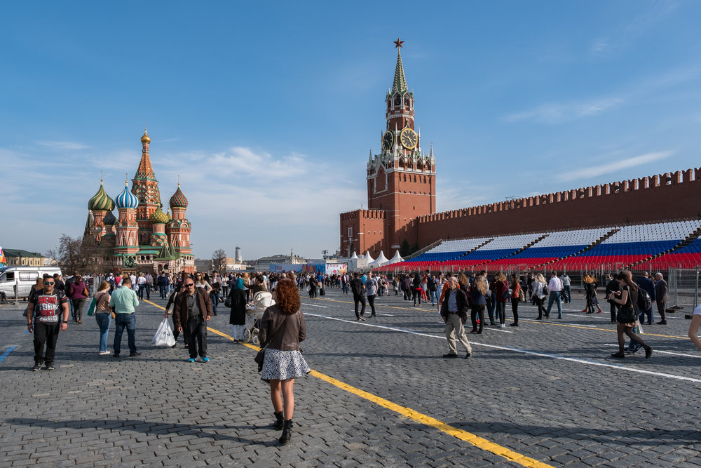 Red Square with St. Basil's Cathedral and Spasskaya Tower