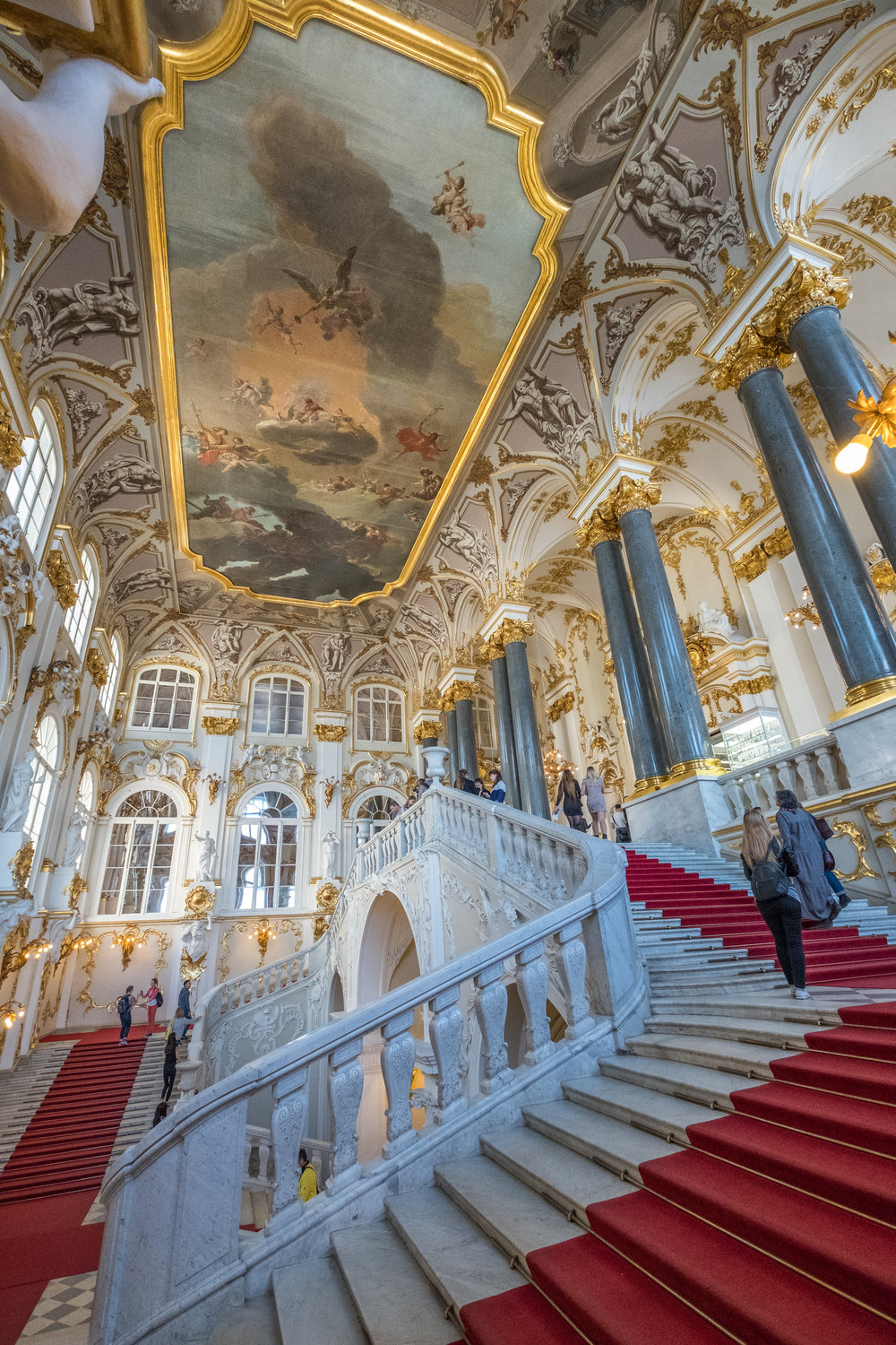 Grand Stairway inside the Hermitage Museum