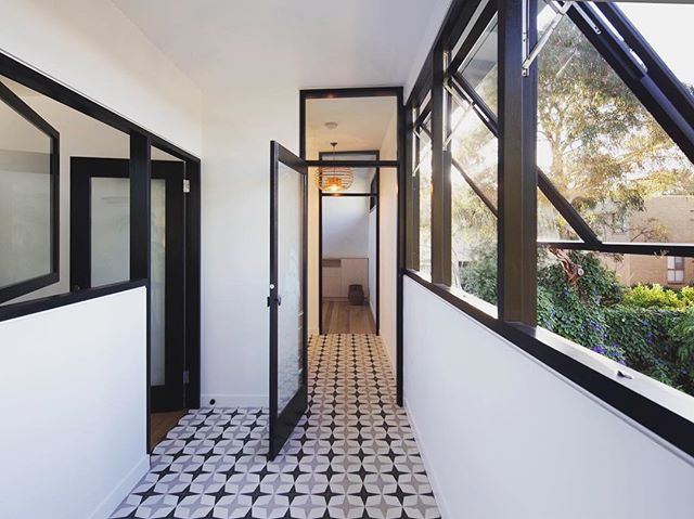 // another of our favourite spaces from this project... an in-between space that connects 3 bedrooms and the exterior context of the house. #seddonhouse #oskarchitects #architecture #melbournearchitecture #seddonarchitecture #australianarchitecture