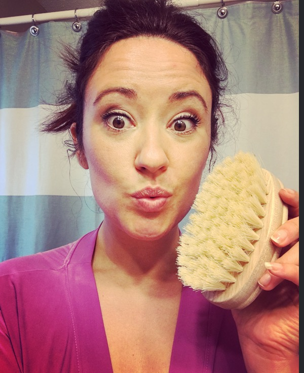 "Dry brushing is another great ""good skin"" ritual i love to do before I shower. It's a great way to exfoliate the skin and get the toxins flushed out through the lymphatic system!"