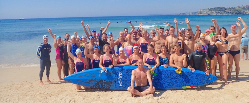 Team Surf with blue sup