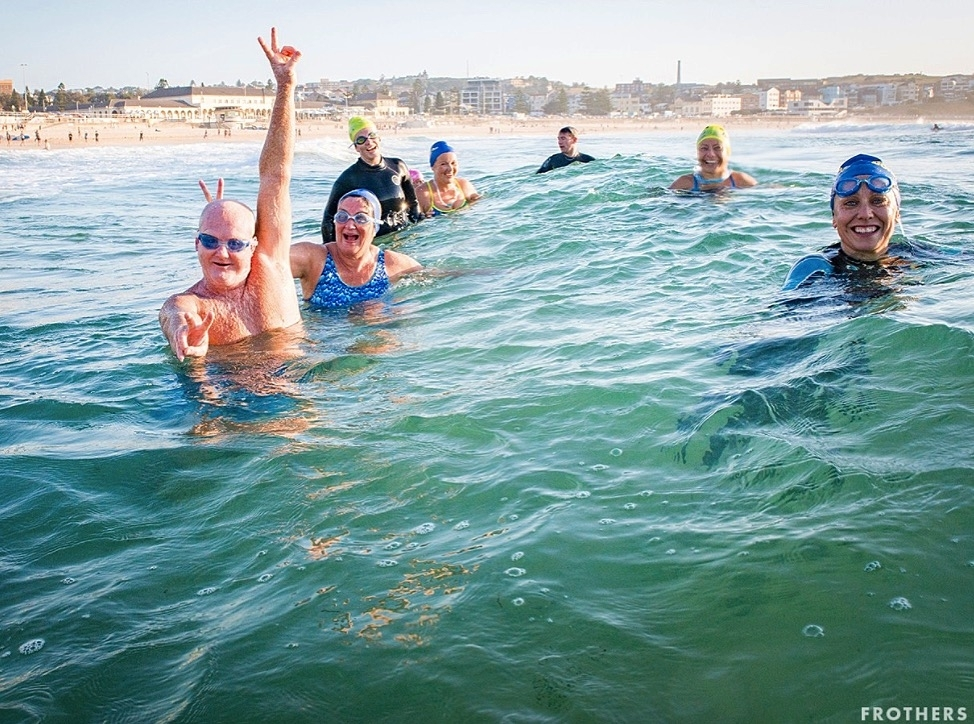Swim with new surf buddies!