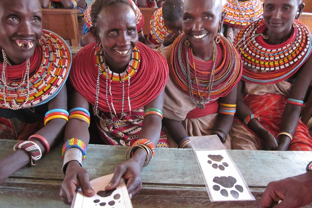 Samburu women participating in Ewaso Lions' community conservation programs