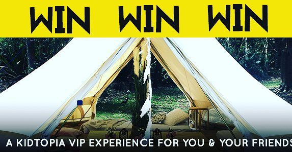 Book your tickets to Kidtopia by 1pm 22nd of September and go in the draw to win one of 3  VIP Kidtopia Experiences for 10 people! Prize includes exclusive use of your very own bell tent with attendant, lunch for 10 thanks to Rocket Boy Pizza, unlimited chilled water for you and your friends, official Kidtopia hats and other goodies! Don't worry if you've already purchased tickets - you're automatically in the draw to win! http://kidtopiafestival.com.au/competitions