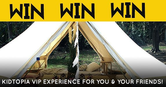 Book your tickets to Kidtopia by 1pm 22nd of September and go in the draw to win one of 3 VIP Kidtopia Experiences for 10 people! Prize includes exclusive use of your very own VIP tent with attendant, lunch for 10 thanks to Rocket Boy Pizza, unlimited chilled water for you and your friends, official Kidtopia hats and other goodies! Don't worry if you've already purchased tickets - you're automatically in the draw to win! http://kidtopiafestival.com.au/competitions