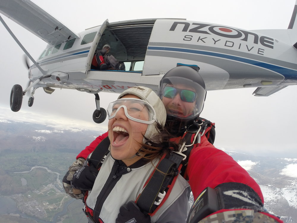 On my bucket list: Sky dive in Queenstown - TICK!