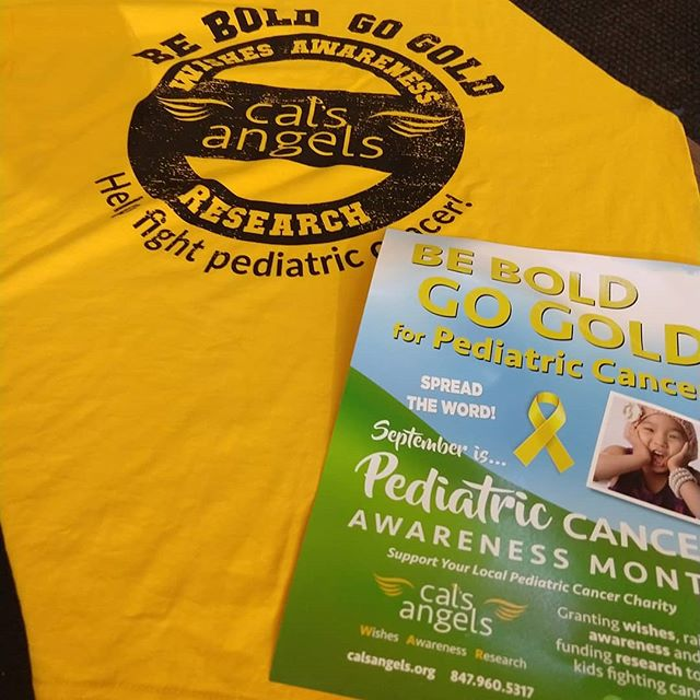 #gogold for pediatric cancer awareness month!  Drop by GRO to get a shirt and make a donation to Cal's Angels!