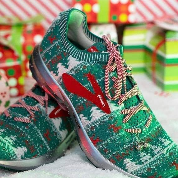 It's ugly sweater time! The @brooksrunning ugly sweater Levitate 2 is here your your running enjoyment and killer looks!