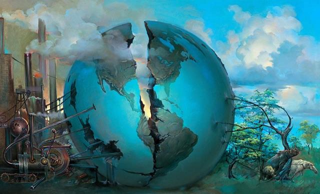 Split World  by John Pitre