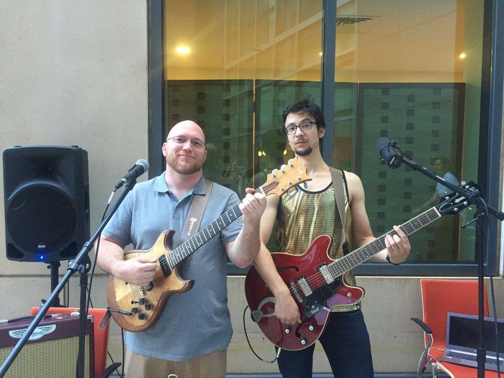 Chris Keiffer and I play the Broad Institute 2016 Summer BBQ