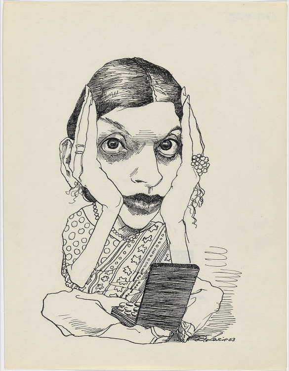 """Jhumpa Lahiri"" by David Levine, 2003"