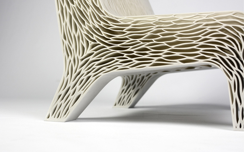 'Biomimicry' 3D Printed Soft Seat - Lilian van Daal