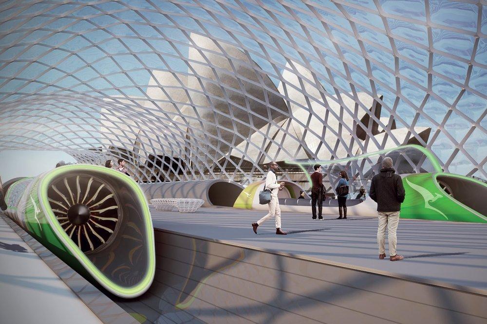 Australian hyperloop proposal Source:www.newcivilengineer.com