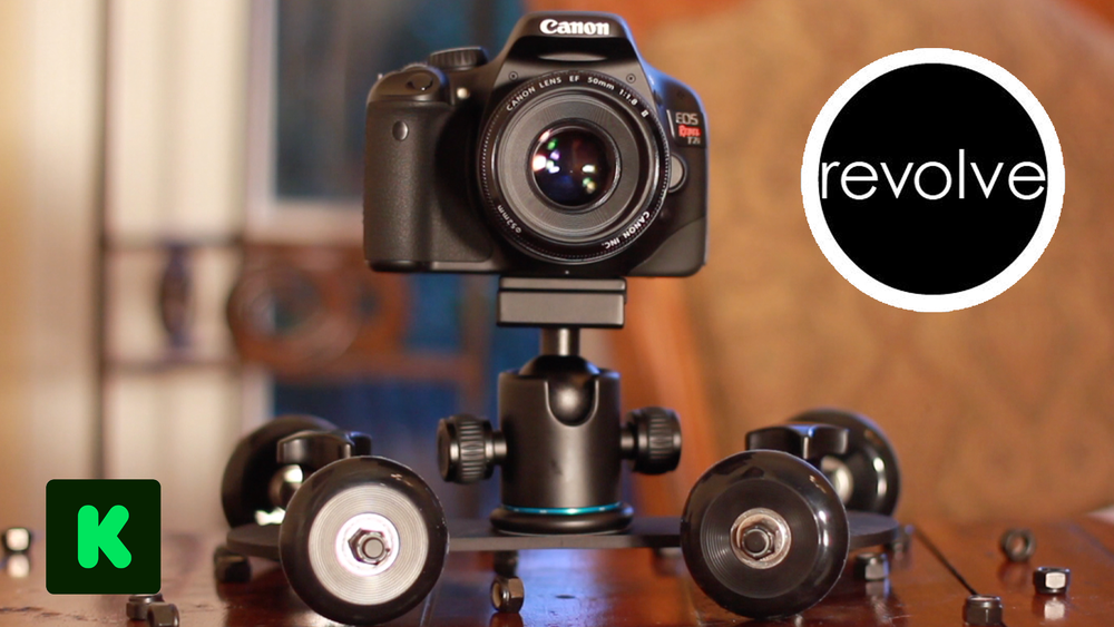 REVOLVE Camera Dolly - $71,664 • 955% FundedKickstarter • 2012